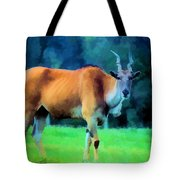 Young Eland Bull Tote Bag by Jan Amiss Photography