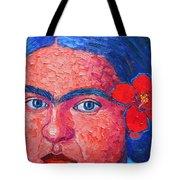 Young Frida Kahlo Tote Bag by Ana Maria Edulescu