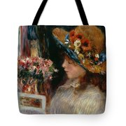 Young Girl Reading Tote Bag by Pierre Auguste Renoir