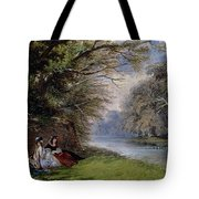 Young Ladies By A River Tote Bag by John Edmund Buckley