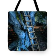 Young Woman Climbing A Tree Tote Bag by Jill Battaglia