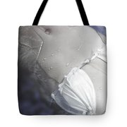 Young Woman In Whirl Pool Tote Bag by Christine Till