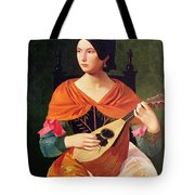 Young Woman With A Mandolin Tote Bag by Vekoslav Karas