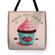 You're My Cupcake Valentine Tote Bag by Catherine Holman