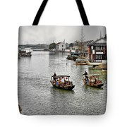 Zhujiajiao - A Glimpse Of Ancient Yangtze Delta Life Tote Bag by Christine Till