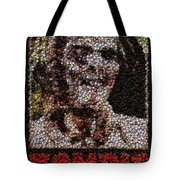 Zombie Bottle Cap Mosaic Tote Bag by Paul Van Scott