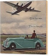 1940s Uk Aviation Hawker Siddeley Cars Wood Print by The Advertising Archives