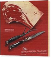1940s Usa Meat Wood Print by The Advertising Archives