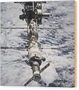International Space Station Wood Print by Anonymous