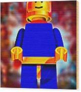 Lego Spaceman Wood Print by Bob Orsillo