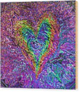 Love From The Ripple Of Thought  V 5  Wood Print by Kenneth James