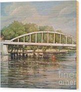 Tartu Arch Bridge Wood Print by Ahto Laadoga