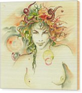 The Capricorn Wood Print by Anna Ewa Miarczynska