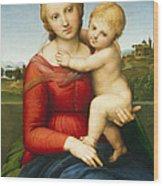 The Small Cowper Madonna Wood Print by Raphael Raffaello Sanzio of Urbino