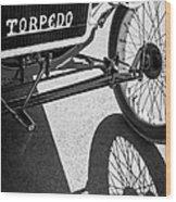 1911 Ford Model T Torpedo Grille Emblem Wood Print by Jill Reger
