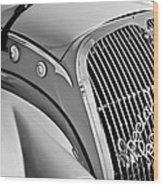 1937 Peugeot 402 Darl'mat Legere Special Sport Roadster Recreation Grille Emblem Wood Print by Jill Reger
