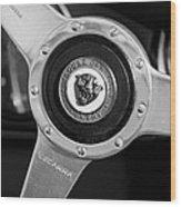 1951 Jaguar Steering Wheel Emblem Wood Print by Jill Reger