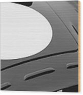 1952 Aston Martin Db3 Sports Hood Emblem Wood Print by Jill Reger