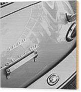 1960 Porsche 356 B 1600 Super Roadster Rear Emblem - Taillight Wood Print by Jill Reger
