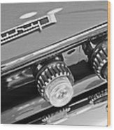 1962 Plymouth Fury Taillights And Emblem Wood Print by Jill Reger