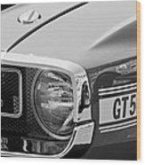 1969 Shelby Gt500 Convertible 428 Cobra Jet Grille Emblem Wood Print by Jill Reger