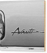 1978 Avanti II Headlight Emblem Wood Print by Jill Reger