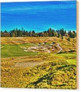 #4 At Chambers Bay Golf Course - Location Of The 2015 U.s. Open Championship Wood Print by David Patterson