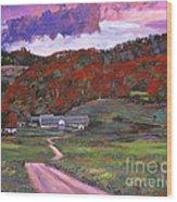 Approaching Storm Wood Print by David Lloyd Glover