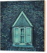 Attic Window Wood Print by Jill Battaglia