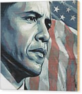Barack Obama Artwork 2 Wood Print by Sheraz A