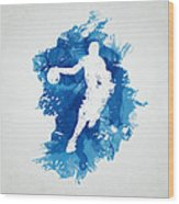 Basketball Player Wood Print by Aged Pixel