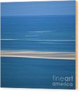 Blurred Sea Wood Print by Bernard Jaubert