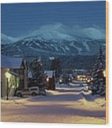 Breckenridge Colorado Morning Wood Print by Michael J Bauer