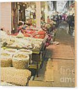 Bujeon Market In Busan Wood Print by Tuimages