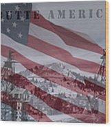 Butte America Wood Print by Kevin Bone