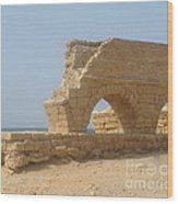 Caesarea Israel Ancient Roman City Port Wood Print by Robert Birkenes