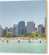 Chicago North Avenue Beach Wood Print by Patrick  Warneka