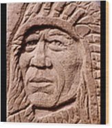 Chief-iron-tail Wood Print by Gordon Punt