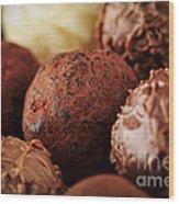Chocolate Truffles Wood Print by Elena Elisseeva