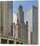 Classic Chicago -  The Jewelers Building Wood Print by Christine Till