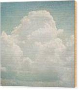 Cloud Series 3 Of 6 Wood Print by Brett Pfister