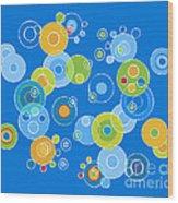 Colorful Circles Wood Print by Frank Tschakert