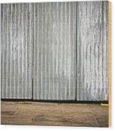 Corrugated Metal Wood Print by Tom Gowanlock