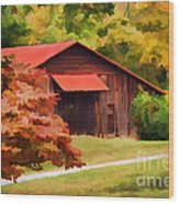 Country Charm Wood Print by Darren Fisher