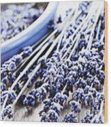 Dried Lavender Wood Print by Elena Elisseeva