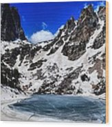 Emerald Lake In Rocky Mountain National Park Wood Print by Dan Sproul