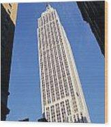 Empire State Building Wood Print by Jon Neidert