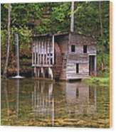 Falling Spring Mill  Wood Print by Marty Koch