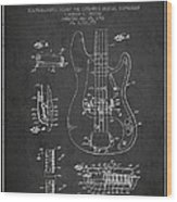 Fender Guitar Patent Drawing From 1961 Wood Print by Aged Pixel