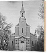former st josephs catholic church in Forget Saskatchewan Canada Wood Print by Joe Fox